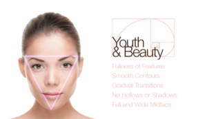 woman with the triangle of youth for youth and beauty